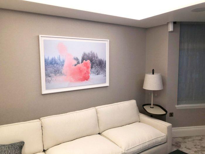 Pink-Smoke print framed