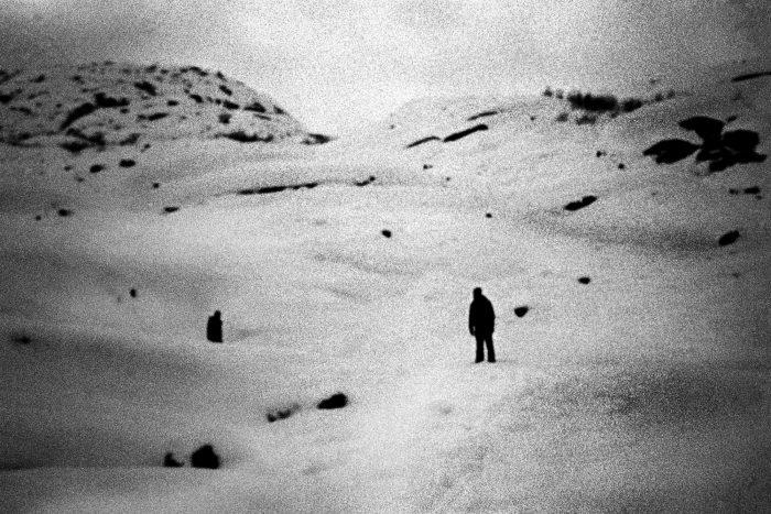 Man in the snow, Alaska.